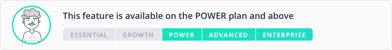 Available on the Power plan and above