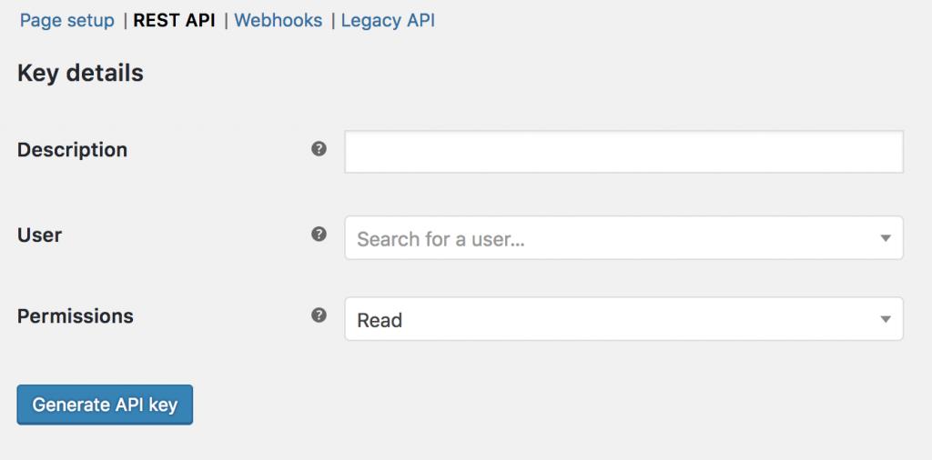 Generate WooCommerce API Key