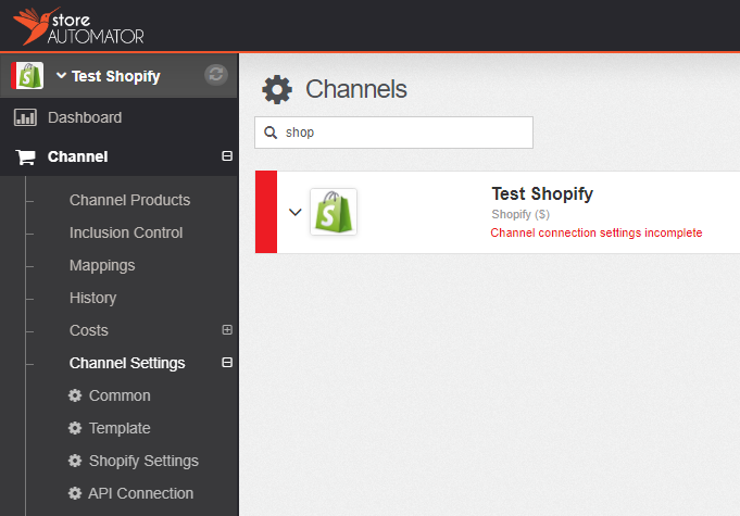 Connect Shopify store to StoreAutomator