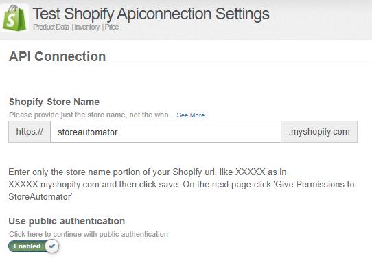 Shopify API Connection