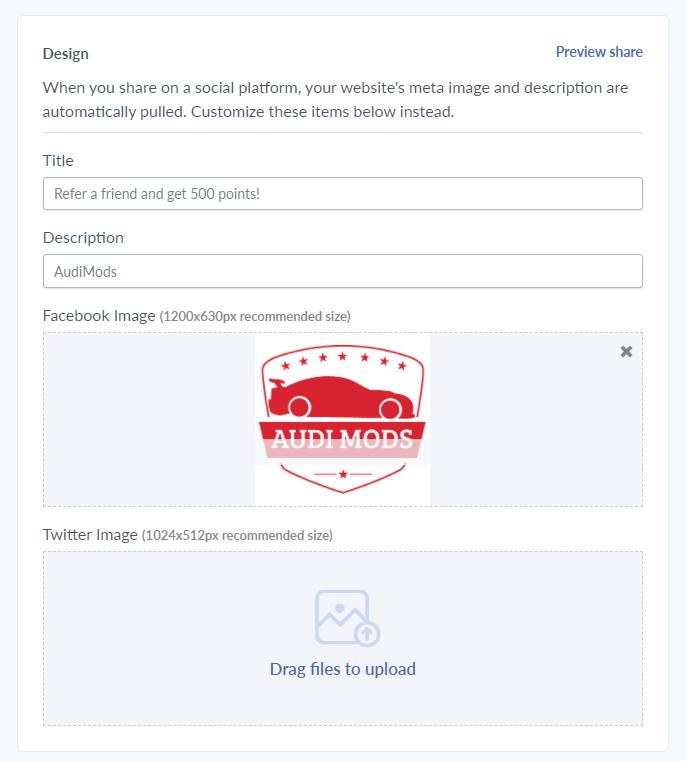 social media referral design