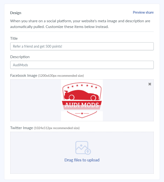 social media referral design