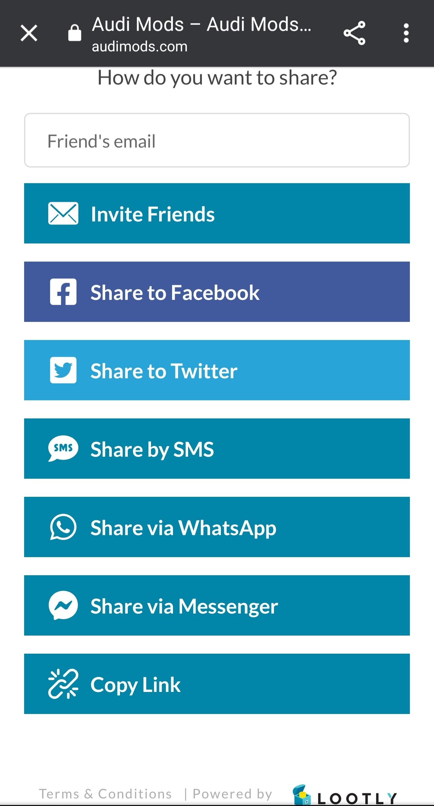 mobile sharing lootly