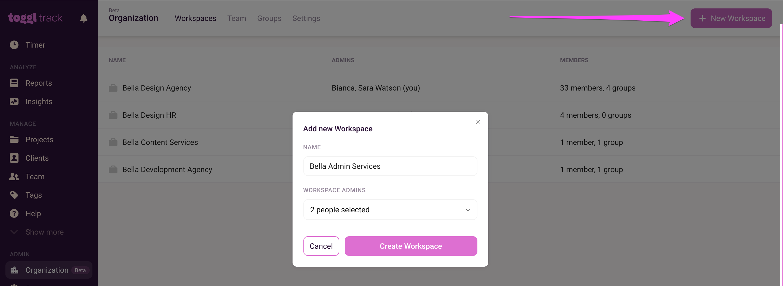 Create New Workspace