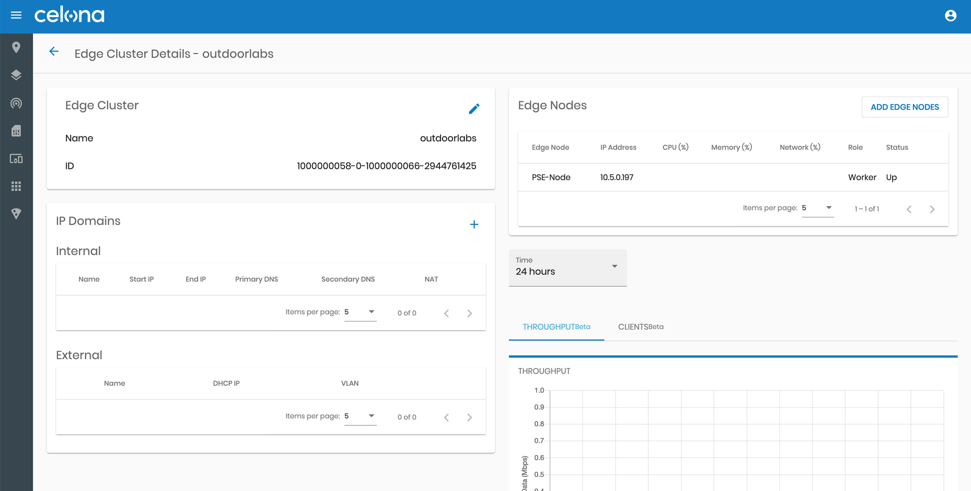 Configuring Edge Clusters via the Celona Orchestrator