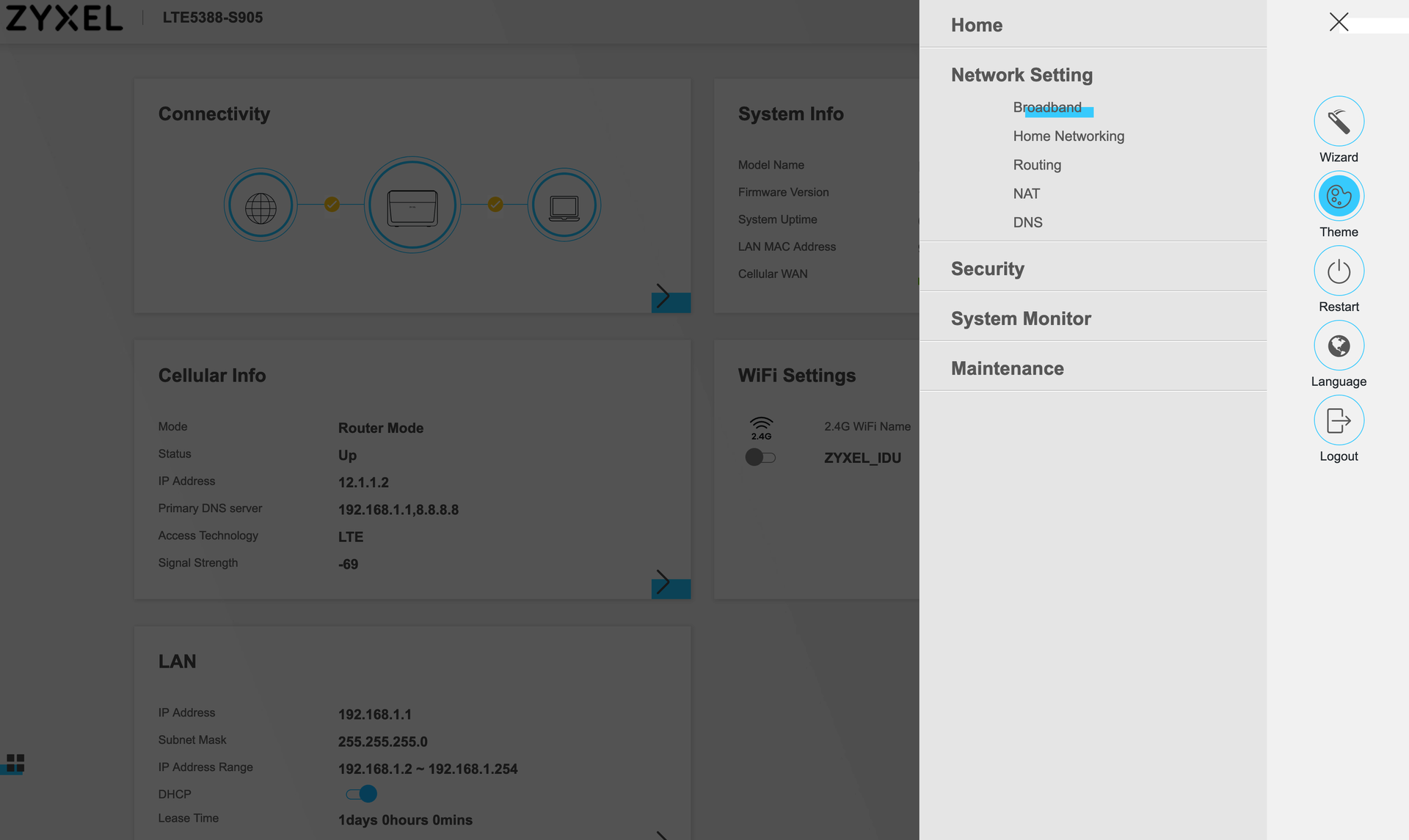 Step 5: Configuring Zyxel Indoor CPE on the Celona CBRS network