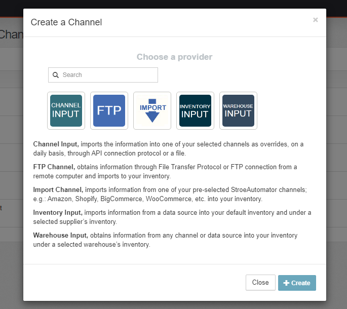 Import Channel