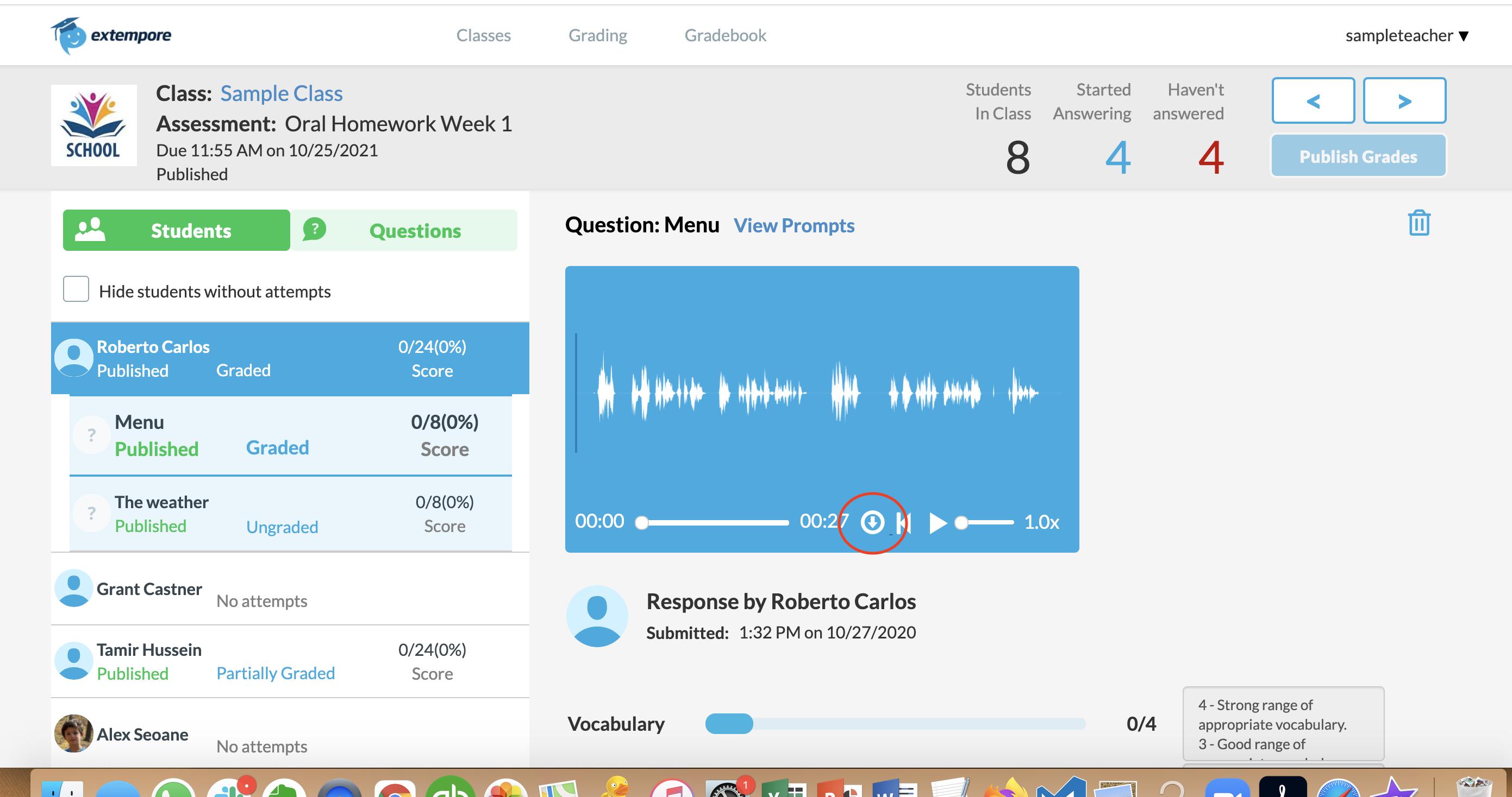 Download Audio Recording