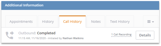 Review Call Recording within ClickPoint Lead Manager