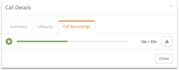 Listen to Call Recording within ClickPoint Lead Manager