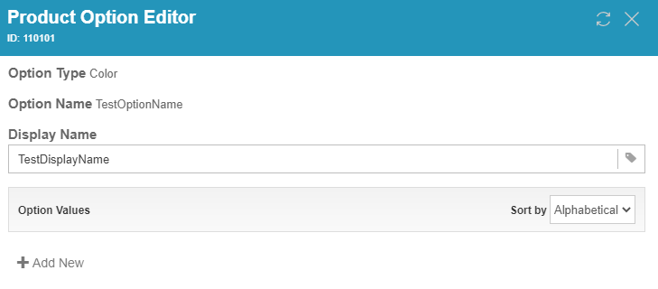 Product Option Editor