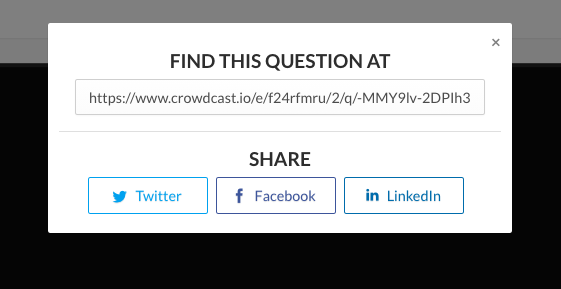 options on how to share answer from the QA section