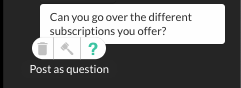 host feature to convert message in chat to QA section