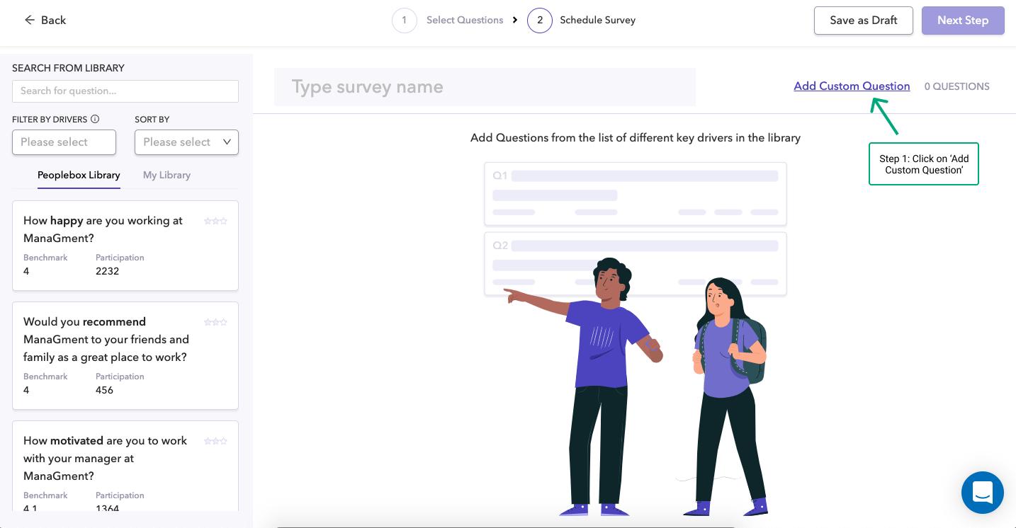 Click on 'Add Custom Question'