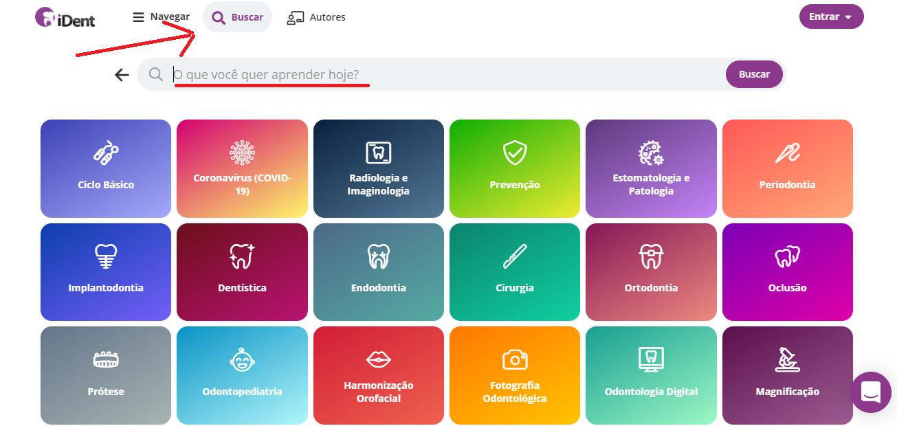 imagem ilustrativa da área buscar da plataforma iDent