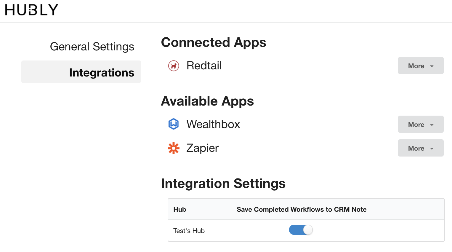 Record in your CRM when workflows are completed in Hubly