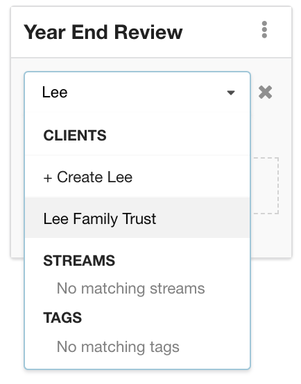 Hubly users can work on the Trusts and Companies under their care by adding trusts and companies into Hubly workflows as well as categorized into Streams and Tags
