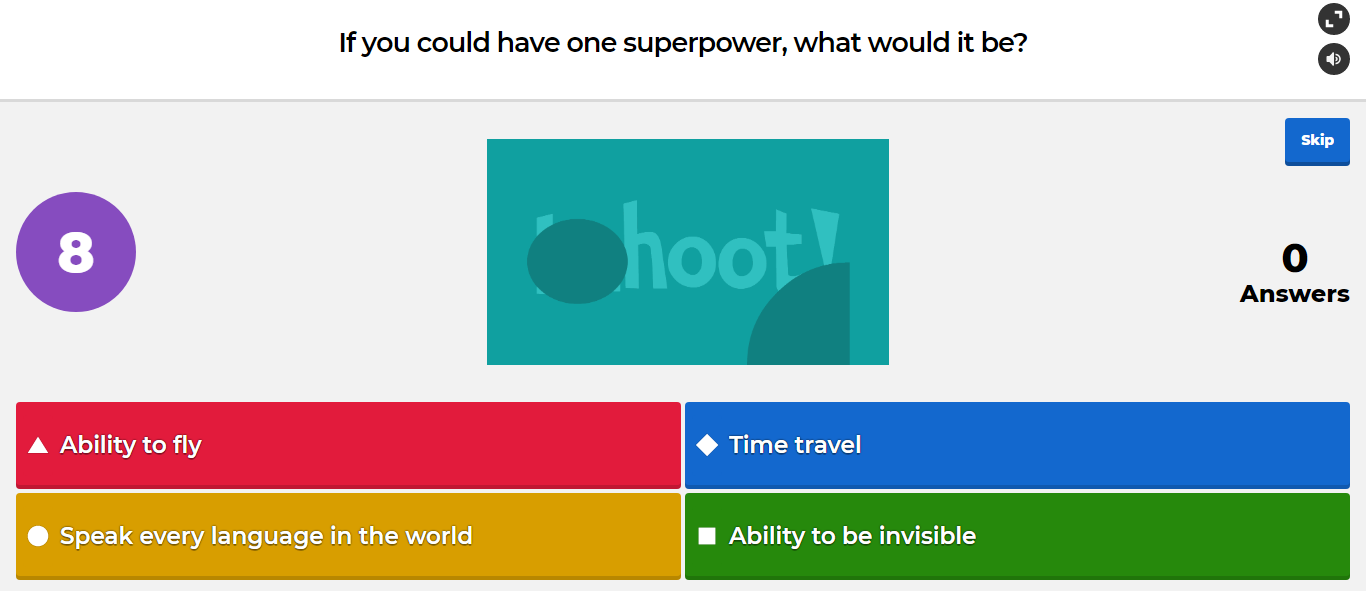 Image from Kahoot