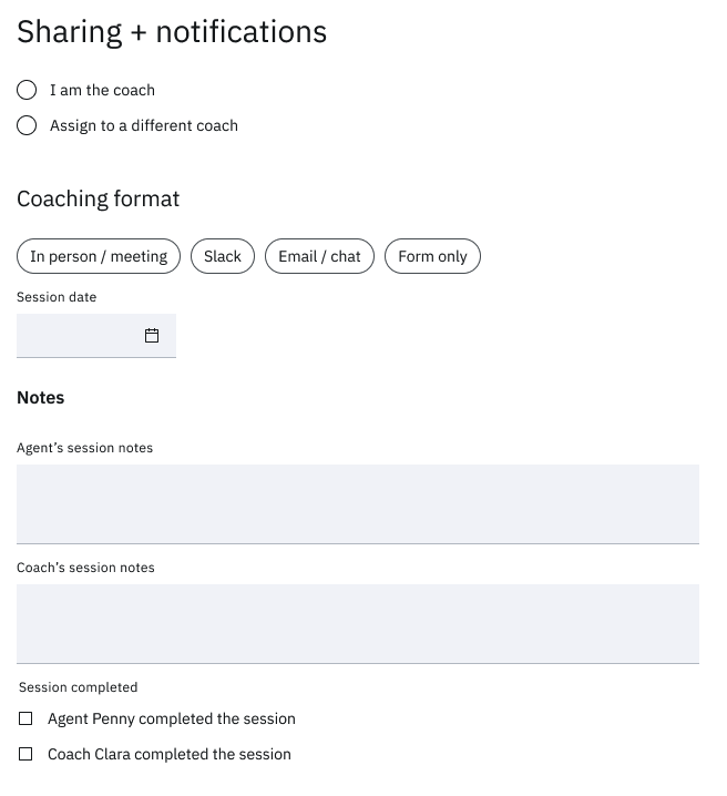 Sharing Coaching Forms