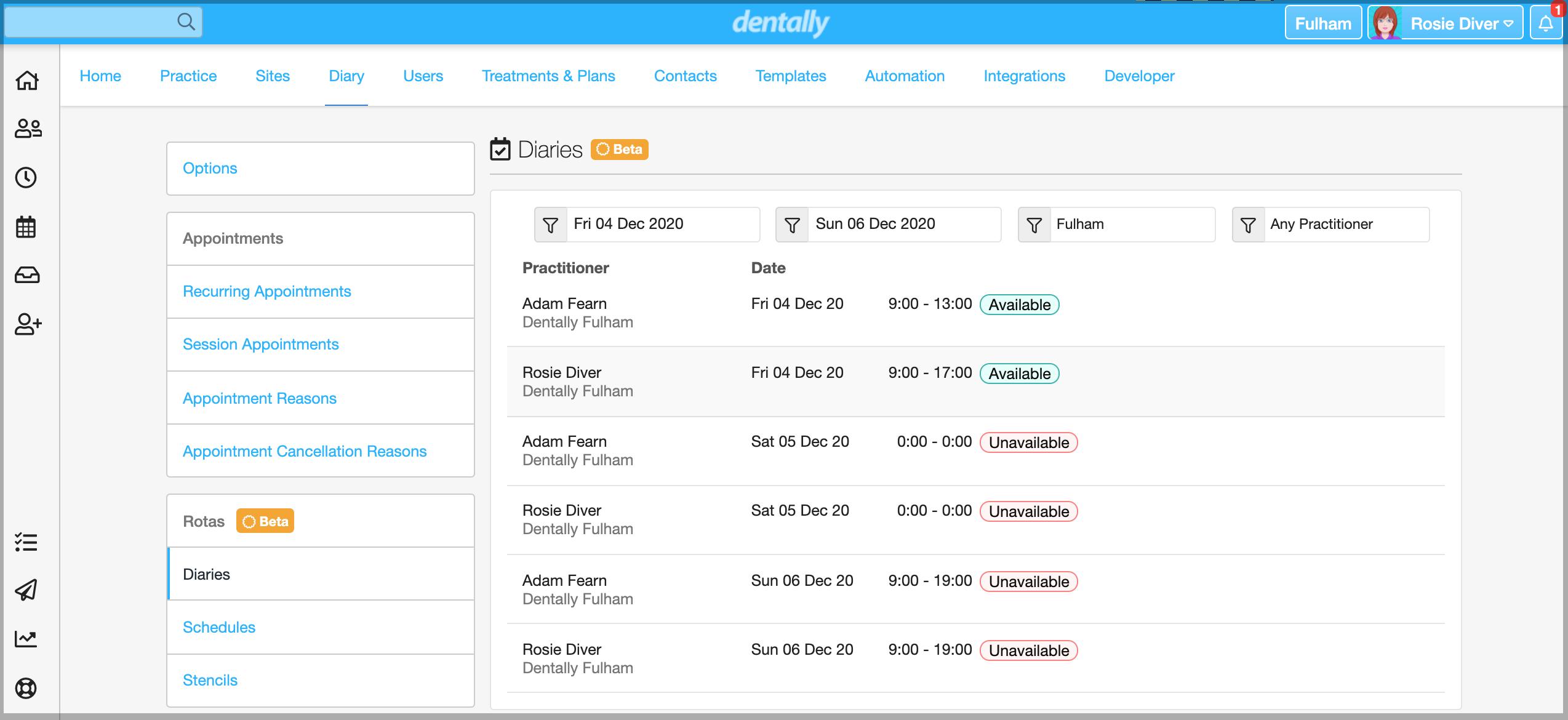 Dentally Rotas Diaries screenshot