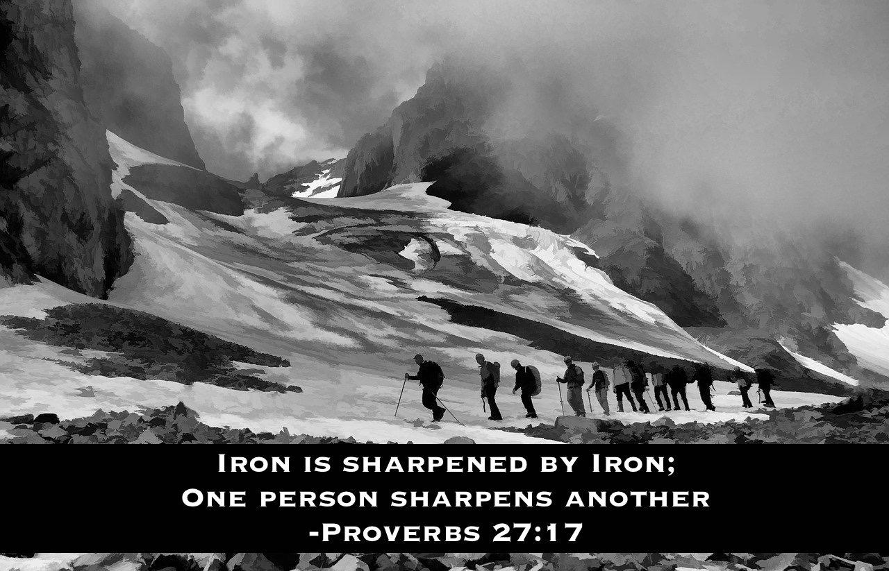 Fraternity Exodus 90 Proverbs 27:17 Iron sharpens iron