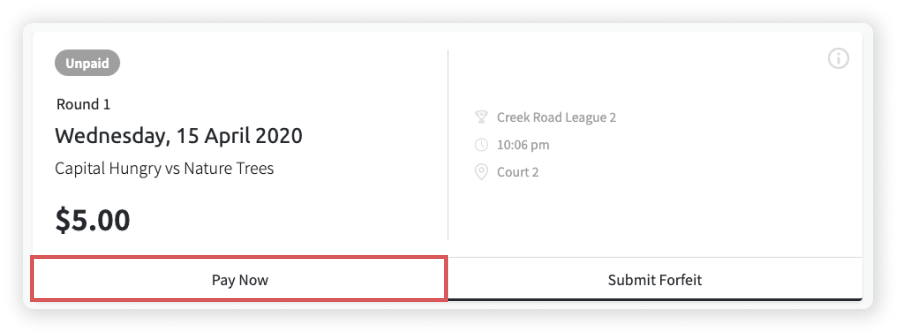 Screenshot of an unpaid match in Teammo
