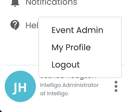 Go to event admin