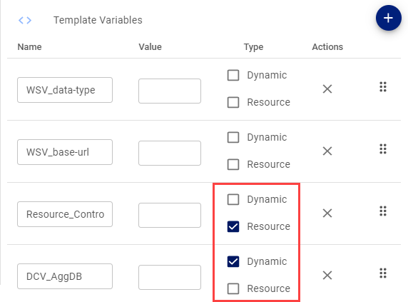 Example OneCloud Template Variables