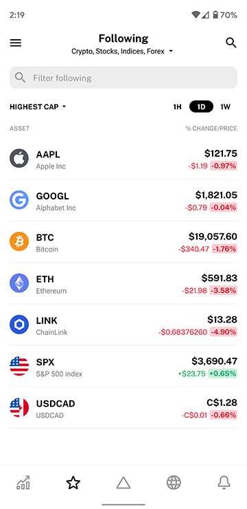Delta Investment Tracker - New following system