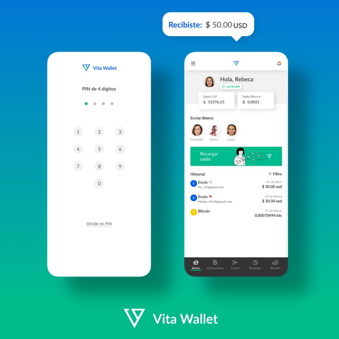 Vita Wallet, App para enviar Remesas internacionales.