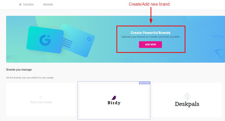 Create New Brand