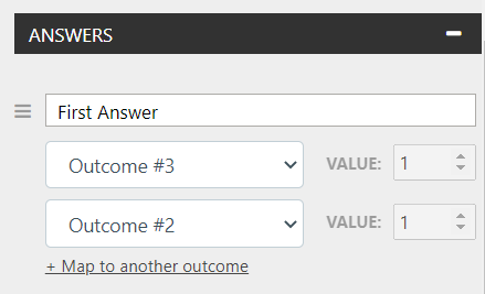 Connect Answers to Outcomes