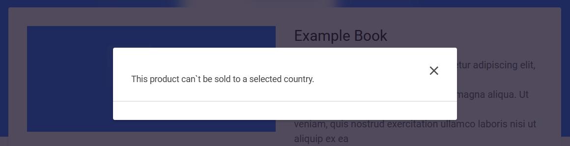 Default pop-up notification