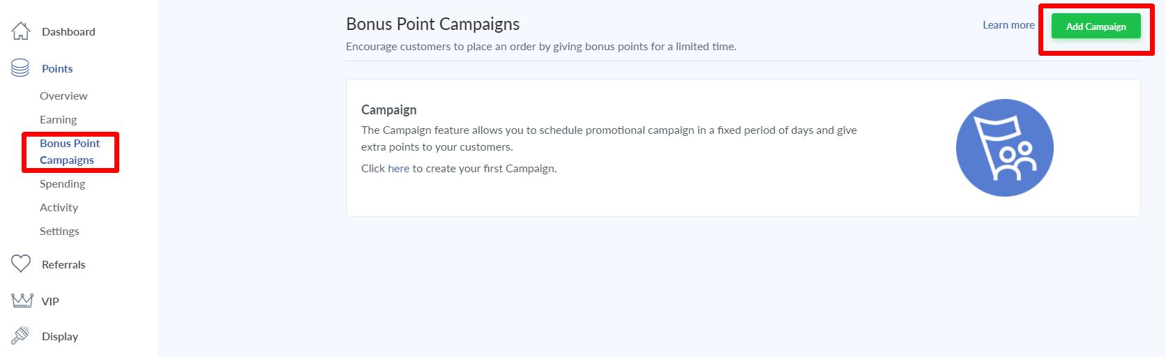 bonus points campaign