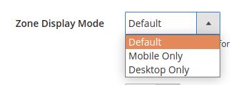 PureClarity Widget Zone Display mode option