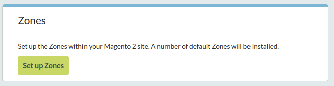 Zones box allows you to install default Zones