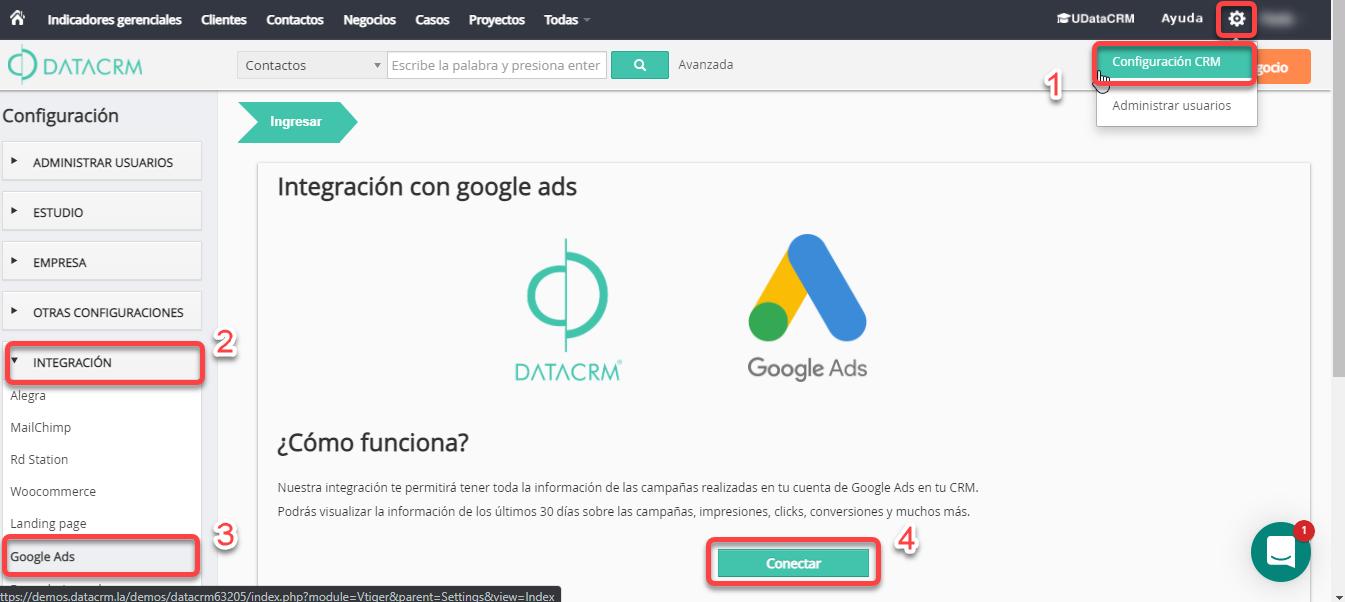 Primeros pasos integración Google ADS