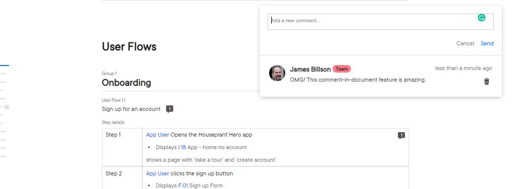 user flow feedback