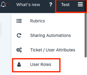 Locating User Roles page