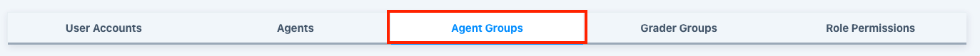 Agent Group tab