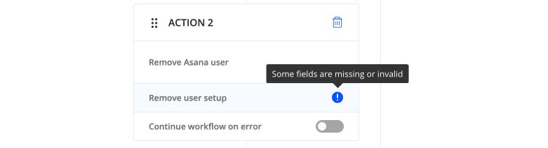 Invalid workflow