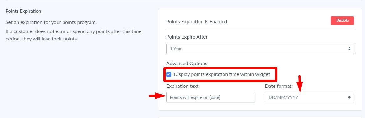points expiration program