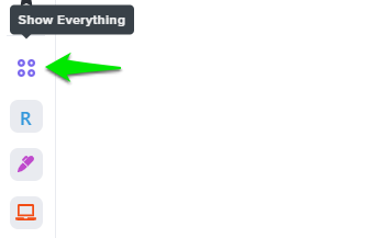 Using Everything View in the sidebar