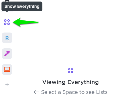 How to open Everything View