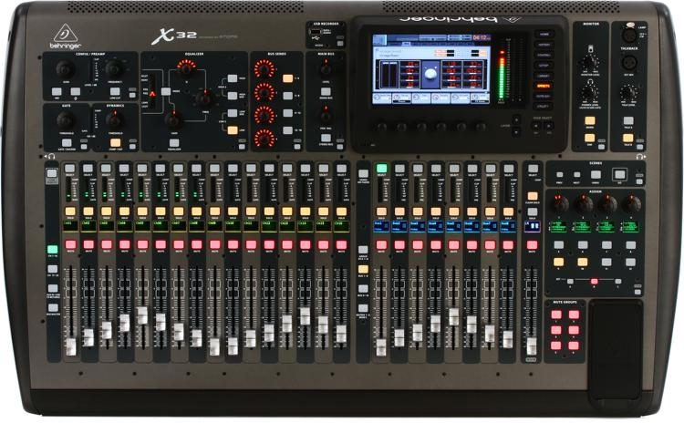 The Behringer X32 40-channel Digital Mixer is one of several X32 models.