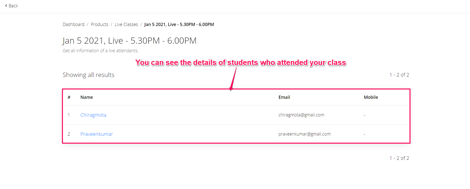 How To Mark Student Attendance During Live Classes