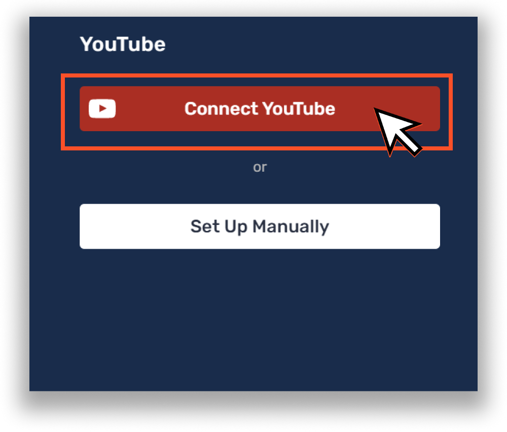 Connect YouTube to Restream