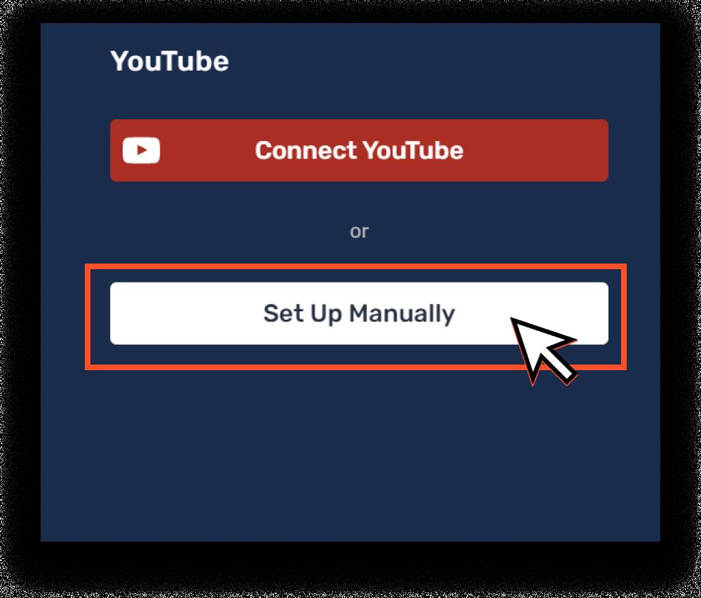 """Set Up Manually"" button"