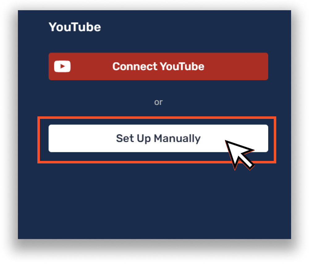 How to manually set up channel in Restream