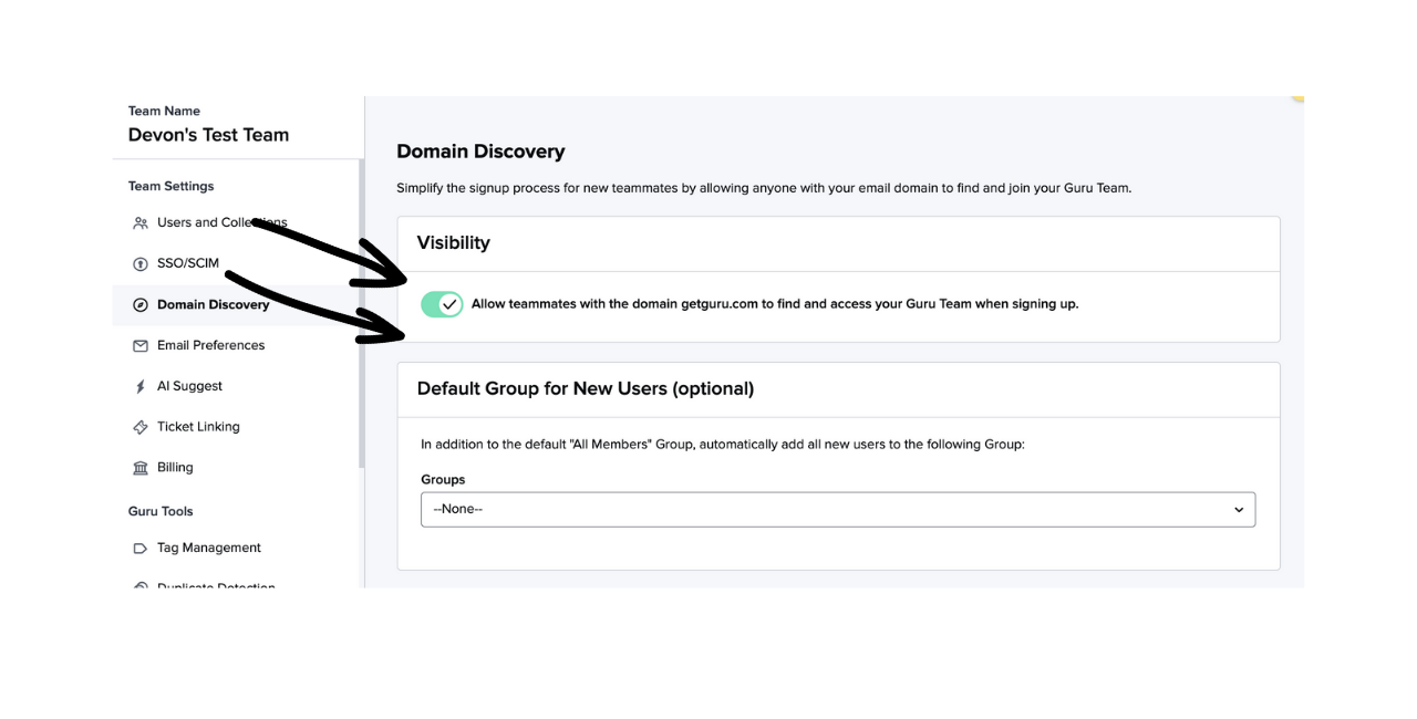 Enabling Domain Discovery